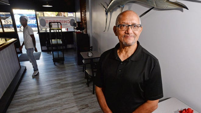 Chippers Seafood & Southern Fusion owner Pastor Curtis Jones Sr., shown Wednesday, is getting set to open the State Street restaurant. Initially, orders will be takeout only due to restrictions caused by the  coronavirus pandemic.