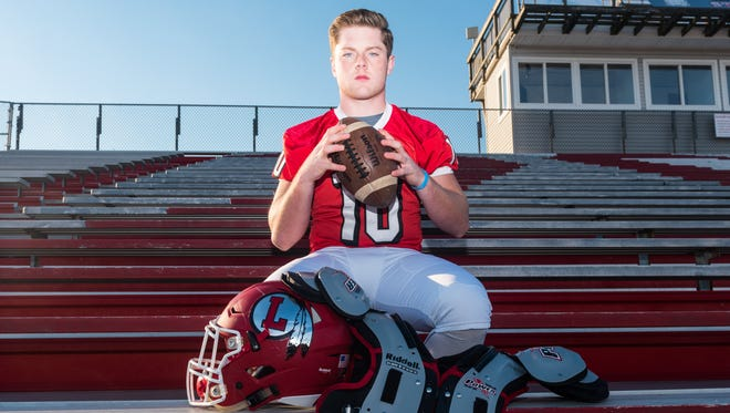 Lenape linebacker Mike Galaida is the Courier Post Defensive Player of the Year.