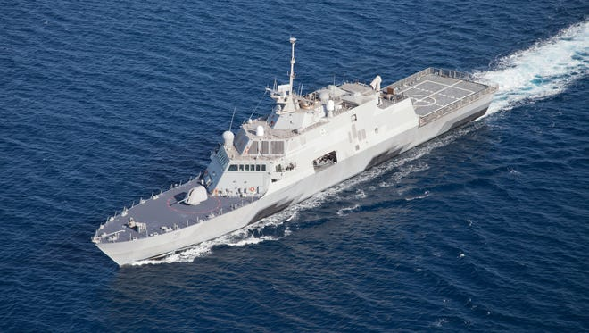A Pentagon spokesman says the U.S. Navy is preparing to send the USS Fort Worth to help search for a missing AirAsia flight. The ship was built at Marinette Marine Corp. in Marinette.