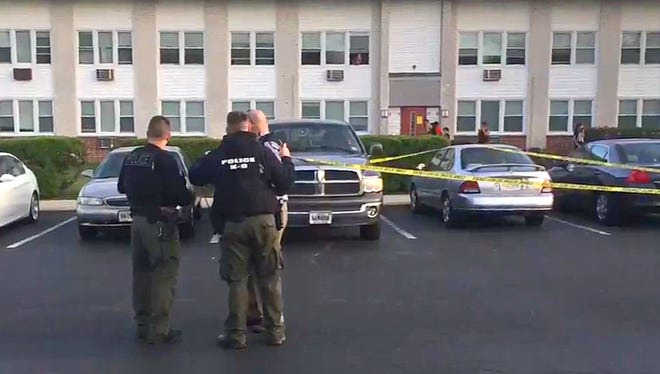 At least two Vineland Gardens apartment units were hit by gunfire Monday evening.