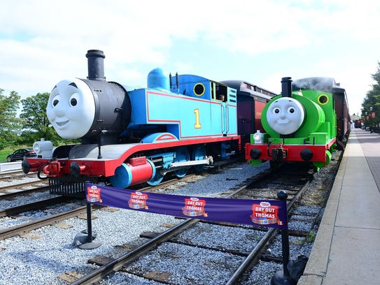 Thomas the Tank Engine and Percy are at the Strasburg