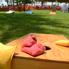 The Gulf Coast Cornhole Series is today, with registration from noon to 12:45 p.m. and the games starting at 1 p.m. at Lagerheads.
