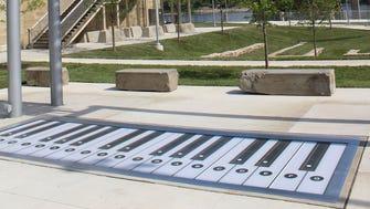 The Verdin Company built the foot piano in Smale Park.
