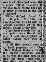 A newspaper article from the regional meet in which