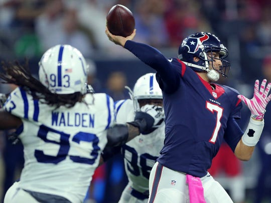 The Colts will know where they stand in the division vs. the Texans when they kick off against the Steelers at 8:30 p.m. today. Both teams are 6-5.