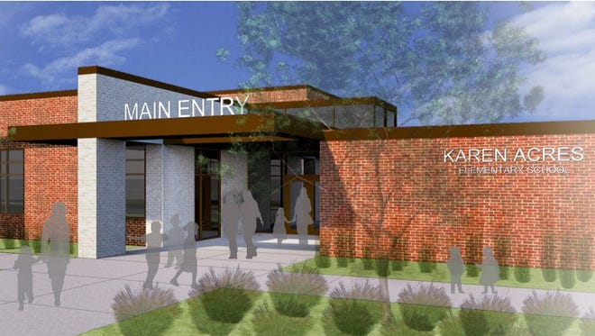 A rendering of the entrance for the Karen Acres renovations.