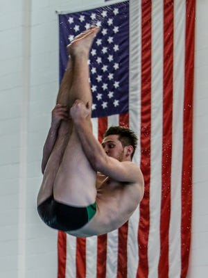 Caleb Balgaard was a two-time All-State diver at Howell, qualifying for the state meet four times.