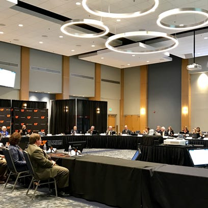 The University of Tennessee board of trustees gathers