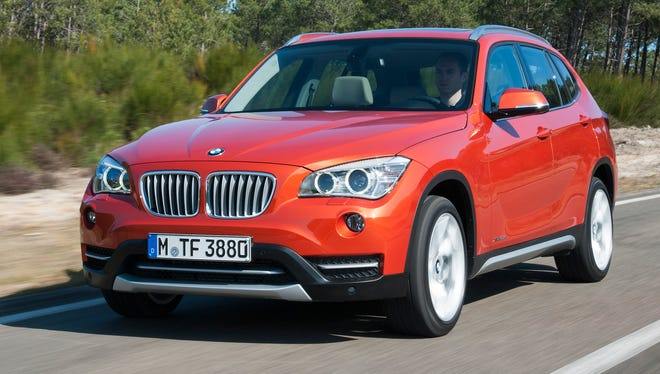 BMW's crossovers, such as this X1 compact, drove the brand's February sales.