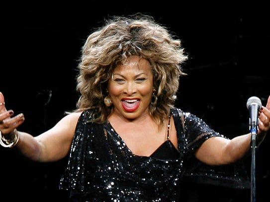 Singer Tina Turner performs in a concert Jan. 14, 2009,