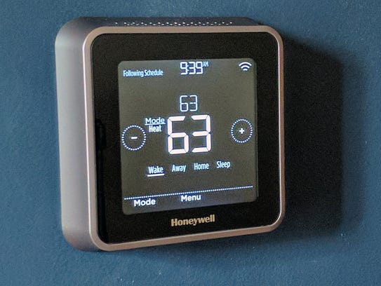 The Honeywell Lyric T5 Wi-Fi Thermostat after you tap