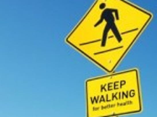 Walking-benefits-sign