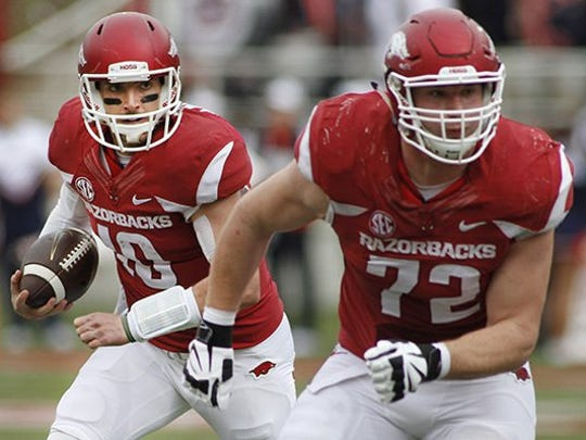 At SEC Media Days, Frank Ragnow said the offensive line will make it a top priority to protect Austin Allen this season after he was sacked 34 times last season.