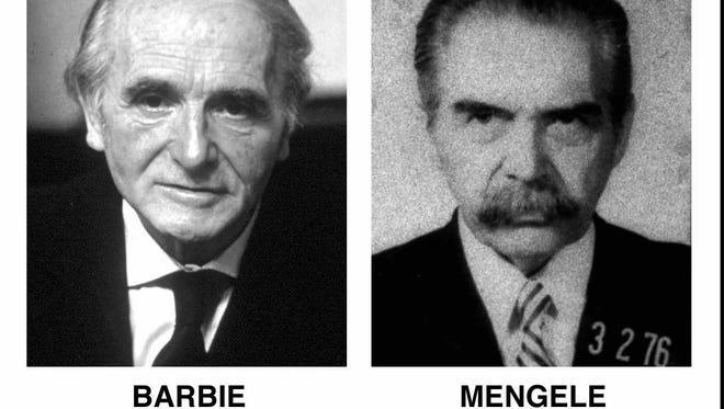 Former Nazis Klaus Barbie and Josef Mengele.