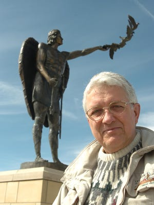 Rodger McConnell posed for this 2006 photo to promote the dedication of the Montana Veterans Memorial in Great Falls.