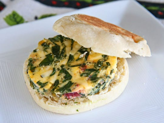 Smoked Gouda Swiss Chard Breakfast Sandwiches are a