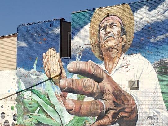 """""""Hijo del Maiz (Son of Corn)"""" by Chilean muralist Dasic"""