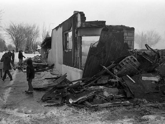 Fire and explosion leveled the Wagon Wheel Supper Club in Waite Park in January 1972.