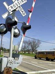 Railroad crossing file photo.
