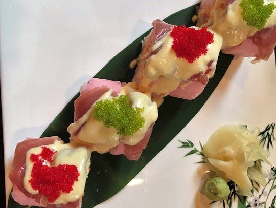 Mango Tango sushi at Saki restaurant