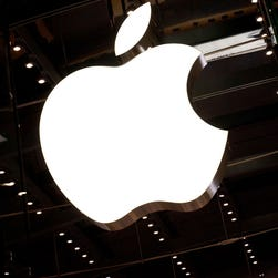 FILE - MAY 28, 2014: It was reported that Apple Inc. will buy headphone-maker Beats Electronics for approximately $3 billion May 28, 2014. NEW YORK, NY - OCTOBER 05:  The Apple logo is seen hanging inside the Apple store on West 66th Street on October 5, 2011 in New York City. Jobs, 56, passed away October 5, 2011 after a long battle with pancreatic cancer. Jobs co-founded Apple in 1976 and is credited, along with Steve Wozniak, with marketing the world's first personal computer in addition to the popular iPod, iPhone and iPad.  (Photo by Andrew Burton/Getty Images) ORG XMIT: 128456632 ORIG FILE ID: 128281802