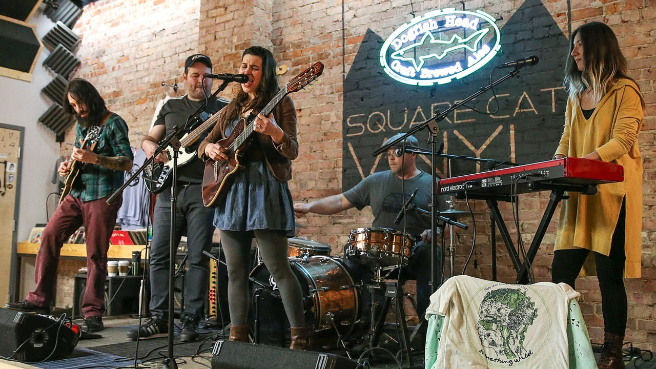 """Sarah Grain & the Billions of Stars perform """"Dreaming"""" on the March 1, 2018, episode of """"Dogfish Head Brewery presents IndyStar Sessions at Square Cat Vinyl."""""""