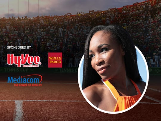 Tennis icon Venus Williams headlines the 2018 Des Moines