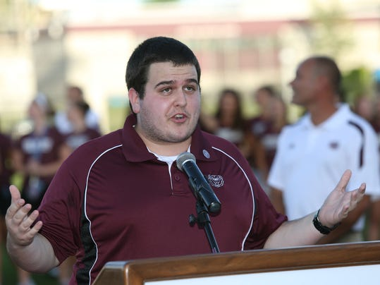 Caption Doyle Speaking at the Betty and Bobby Allison South Stadium dedicati.JPG