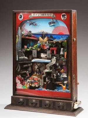"Mariko Kusumoto's ""Pachinko Voyage"" is on display at the National Ornamental Metal Museum."