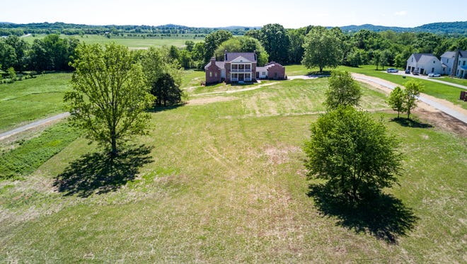 The house at 4114 Trinity Road in Franklin is on the market for $1.475 million. Bruce Jones, broker for Re/Max Fine Homes in Brentwood, had photos of the property made with a drone.