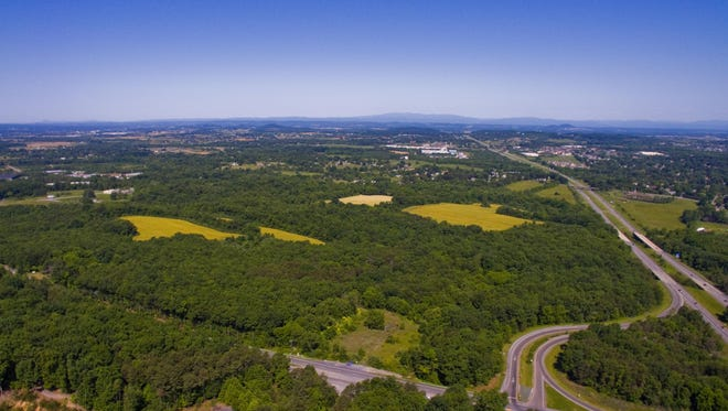 A bird's eye view over Waynesboro