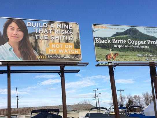 These two billboards were found on Montana Avenue in