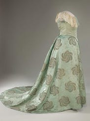 The gown that Edith Roosevelt wore to the 1905 presidential