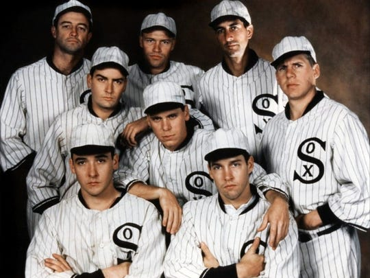 "John Cusack and Charlie Sheen were among the players on the ""Black Sox"" team depicted in ""Eight Men Out."""