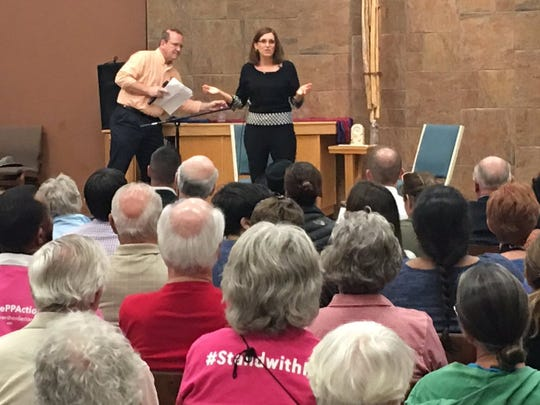 Rep. Martha McSally holds a town hall meeting at a