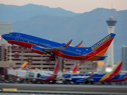 Southwest Airlines flight bound for Phoenix made an emergency landing at Nashville International Airport on April 18, 2018, after it hit a bird.