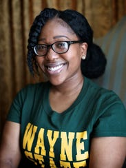 Amari McGee, 22, of Detroit, photographed on Wednesday,
