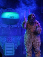 Victor Legarreta as The Cowardly Lion in Broadway Palm's