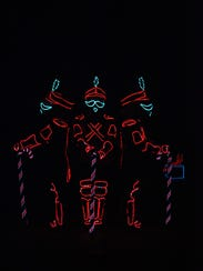 Puppet-like characters created by battery-powered electroluminescent