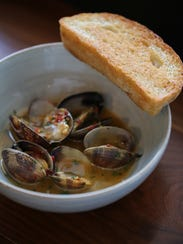 Clams arrabbiata from Mabel Gray in Hazel Park.