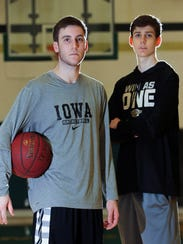 West High's Connor and Patrick McCaffery pose for a