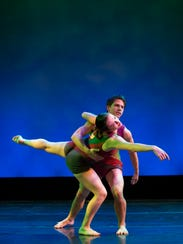 Members of Dance Kaleidoscope perform a routine. There