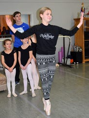 Lacy Leichty rehearses for her role as Clara in the