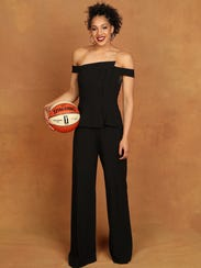 Gabby Williams poses for a portrait during the WNBA