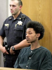 Demar S. Reevey is shown during his detention hearing