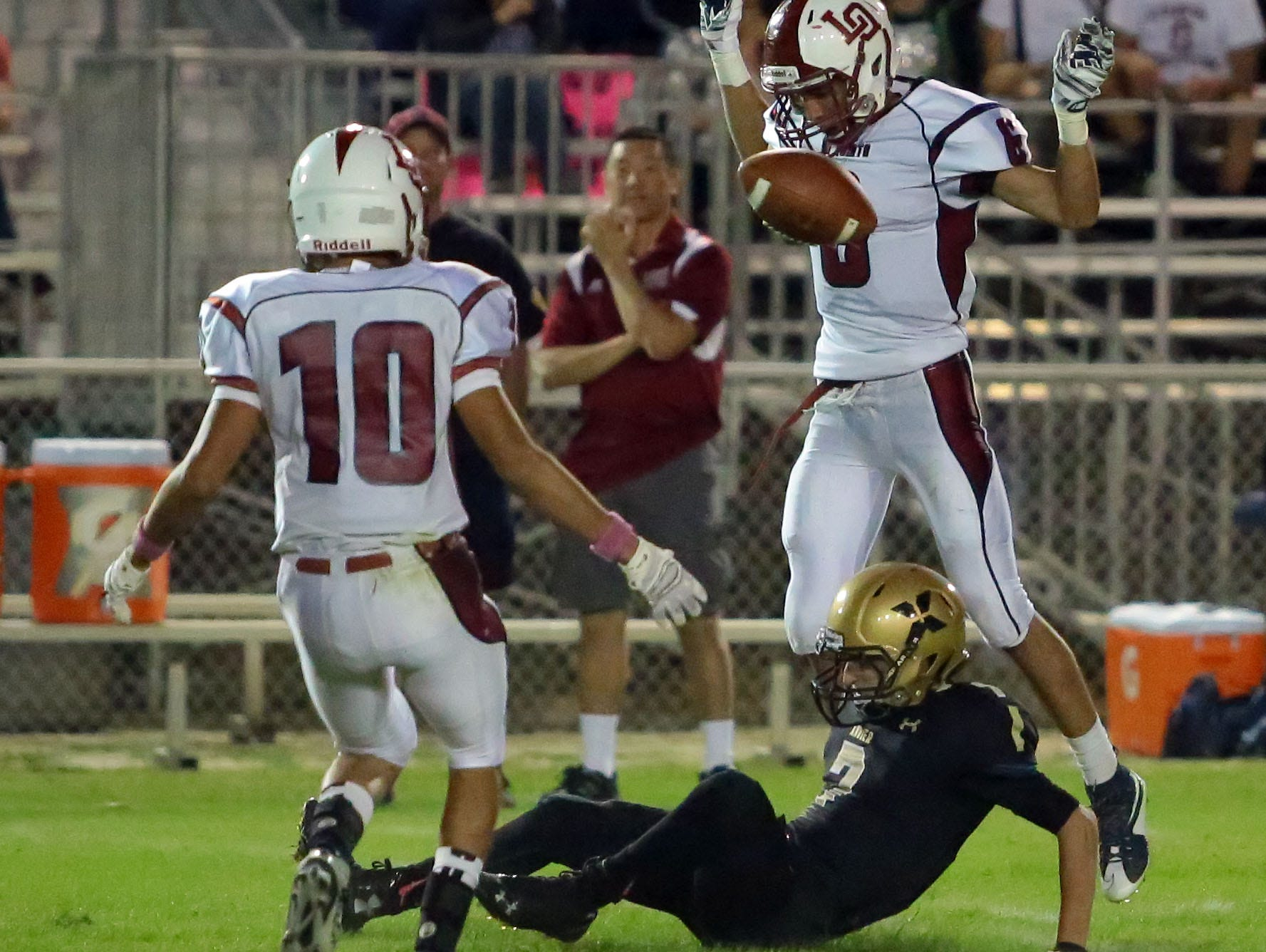 Xavier Prep and La Quinta football action on Friday in Palm Desert.