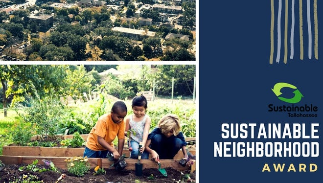 Sustainable Tallahassee will give out a Sustainable Neighborhood award this year.