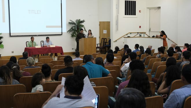 Dozens of people attended the decolonization forum held at the University of Guam Thursday.