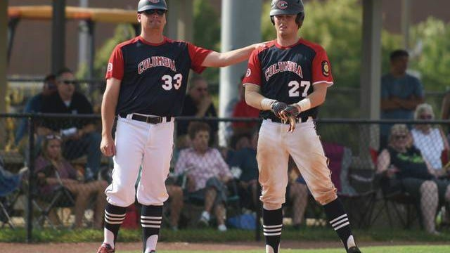 Scott Beasley (left), who has coached the Columbia Post 19 Seniors team since 2011, expressed disappointment at news that this season will be cancelled as a result of the coronavirus pandemic.