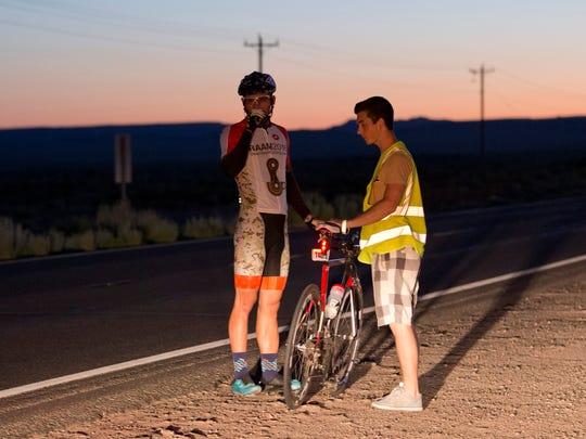 Jake Burbach (rider) with Connor Kindom (crew)